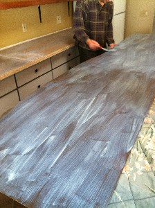 Back countertop in progress