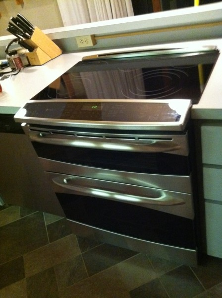 new oven is in