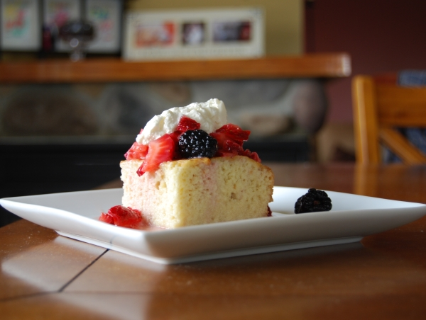 strawberry tres leche shortcake